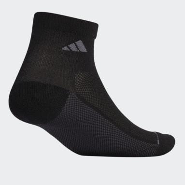 Men's Cycling Black Superlite Stripe Quarter Socks 3 Pairs