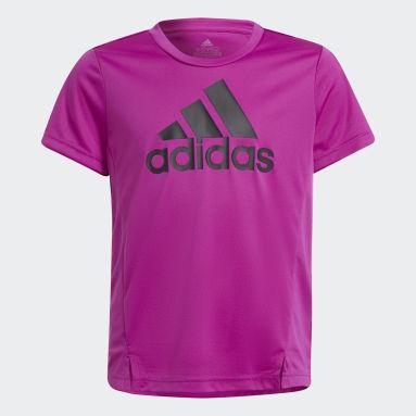Camiseta adidas Designed To Move Rosa Niña Gimnasio Y Entrenamiento