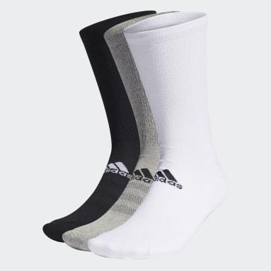 Männer Golf Crew Socken, 3 Paar Grau