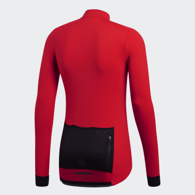 Camiseta de Ciclismo Climaheat Winter Rojo Hombre Ciclismo