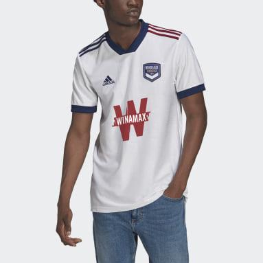 Men Football White FC Girondins de Bordeaux 21/22 Away Jersey
