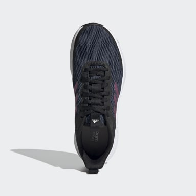 Women Running Black Fluidstreet Shoes