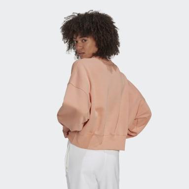 Frauen Originals adicolor Essentials Fleece Sweatshirt Rosa