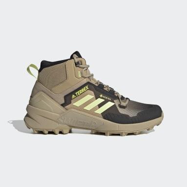 Zapatillas de Senderismo Terrex Swift R3 Mid GORE-TEX Beige Hombre TERREX
