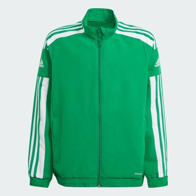 Kids Football Green Squadra 21 Presentation Jacket
