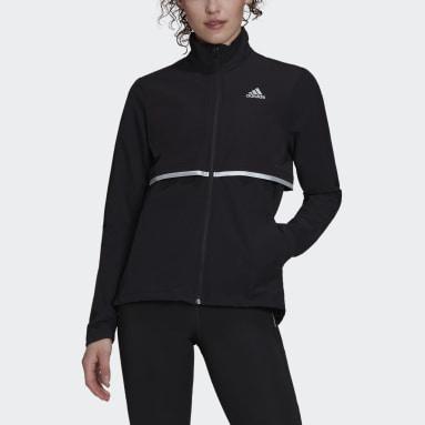 adidas Own The Run Soft Shell Jakke Svart