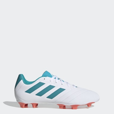 Women's Soccer White Goletto VII Firm Ground Cleats