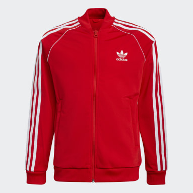 Kinderen Originals rood Adicolor SST Trainingsjack