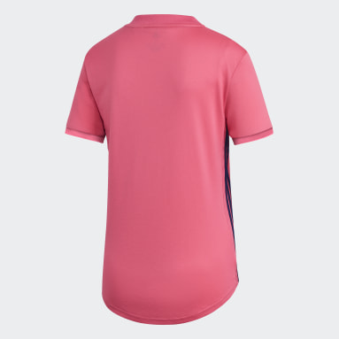 Ženy Fotbal růžová Venkovní dres Real Madrid 20/21