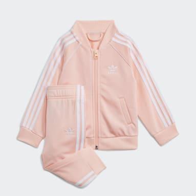 Conjunto chaqueta y pantalón Adicolor SST Rosa Niño Originals