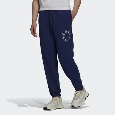 Men Originals Blue Adicolor Shattered Trefoil Joggers