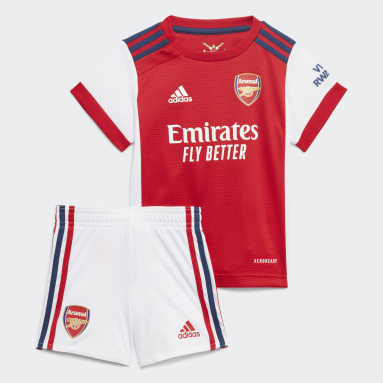 Kinder Fußball FC Arsenal 21/22 Mini-Heimausrüstung Weiß