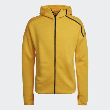 Men Sportswear Yellow adidas Z.N.E. Hoodie featuring Fast Release Zipper
