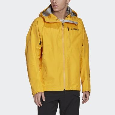 Men TERREX Yellow Terrex Techrock GORE-TEX PRO Rain Jacket