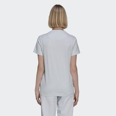 Frauen Y-3 Y-3 Classic Chest Logo T-Shirt Blau