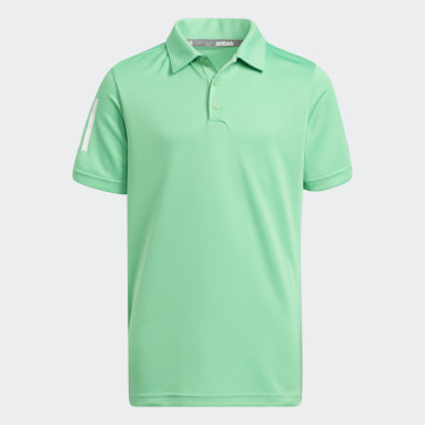 Boys Golf Green 3-Stripes Polo Shirt