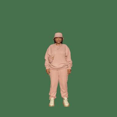 IVY PARK French Terry Crewneck Sweatshirt Różowy