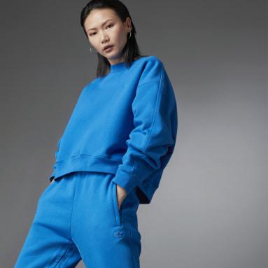 Fashion Essentials Batwing Crew Sweatshirt Niebieski