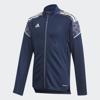 Děti Fotbal modrá Sportovní bunda Condivo 21 Primeblue