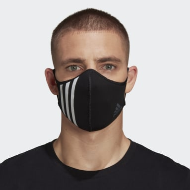 Sportswear Black Face Cover 3-Stripes - Not For Medical Use