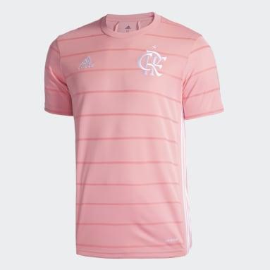 Camisa Outubro Rosa Flamengo Rosa Homem Futebol
