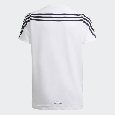 Girls Gym & Training White Marimekko Primegreen AEROREADY Training Loose 3-Stripes Floral Graphic Tee