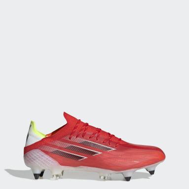 Bota de fútbol X Speedflow.1 césped natural húmedo Rojo Fútbol