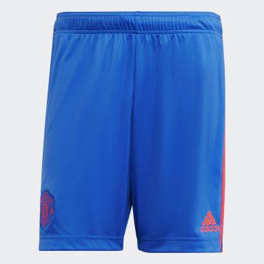 Football Blue Manchester United 21/22 Away Shorts