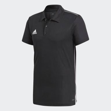 Men Football Black Core 18 Climalite Polo Shirt