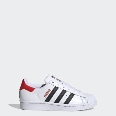 Kids Originals White Superstar Run DMC Shoes