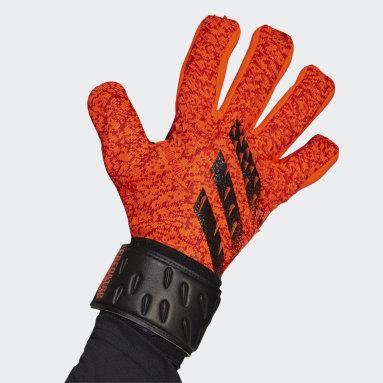 Football Orange Predator League Goalkeeper Gloves
