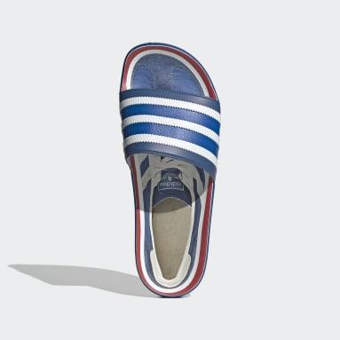 Women Originals Blue Adilette Premium Slides