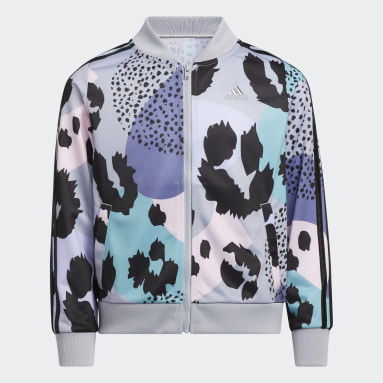Youth Training Grey Allover Print Tricot Jacket