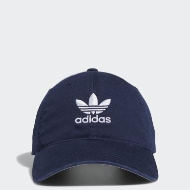 Men Originals Blue Relaxed Strap-Back Hat