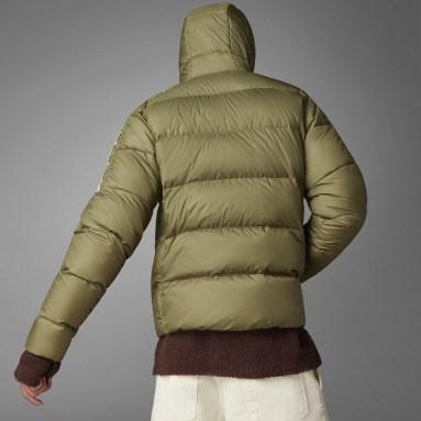 Heren City Outdoor Groen Essentials Midweight Donsjack met Capuchon