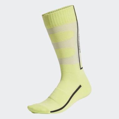 Y-3 Yellow Y-3 Classic Logo Socks