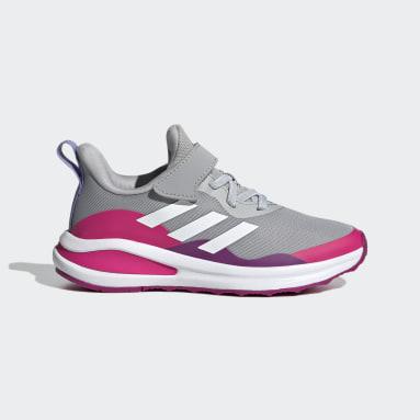 Chaussure de running FortaRun Elastic Lace Top Strap gris Enfants Course