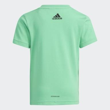 T-shirt Cotton Verde Ragazzo Fitness & Training