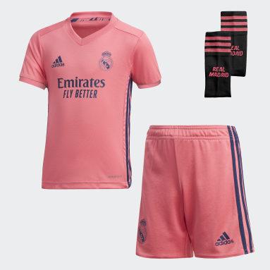 Kinder Fußball Real Madrid 20/21 Mini-Auswärtsausrüstung Rosa