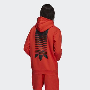 Men Originals Red Graphics Symbol Hoodie