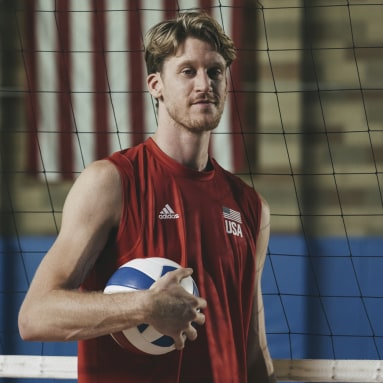 Men's Volleyball Red USA Volleyball Primeblue Jersey