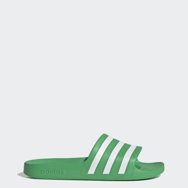 Adilette Aqua Sandaler Grønn