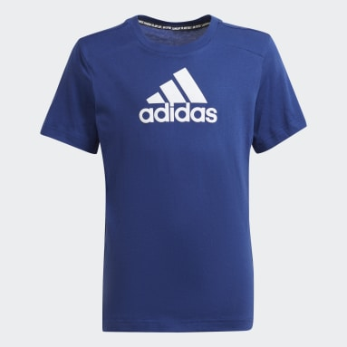 Logo T-skjorte Blå