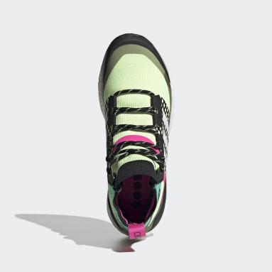 Men's TERREX Yellow Terrex Free Hiker Primeblue Hiking Shoes