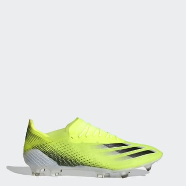 Chaussure X Ghosted.1 Terrain souple jaune Soccer