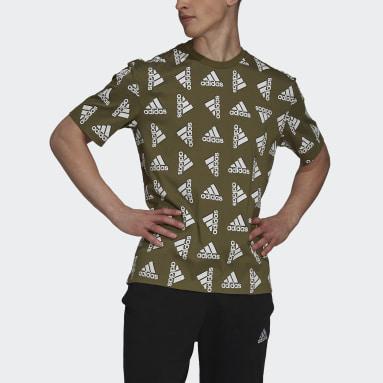 Heren Sportswear Groen Essentials Loose Giant Logo T-shirt (Uniseks)