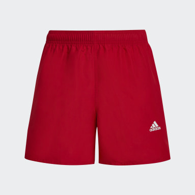 Classic Badge of Sport Swim Shorts Czerwony