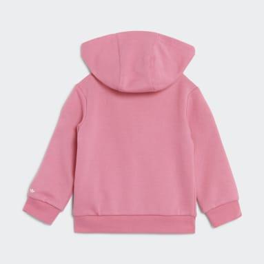 Infant & Toddlers 0-4 Years Originals Pink Adicolor Full-Zip Hoodie Set