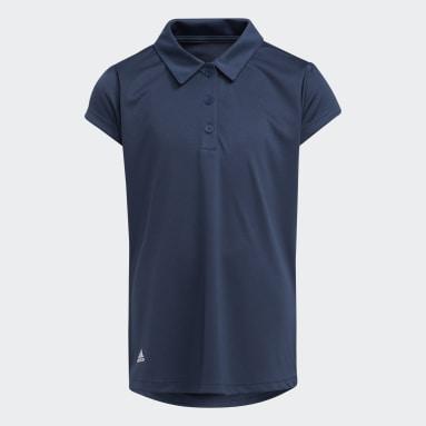 Girls Golf Blå Girls' Performance Primegreen Polo Shirt