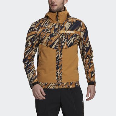 Mænd TERREX Brun Terrex Multi Graphic Stretch Softshell jakke